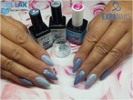 Gel lak Smoke Grey 114347 + Fashion 114527 + 650155 opál color